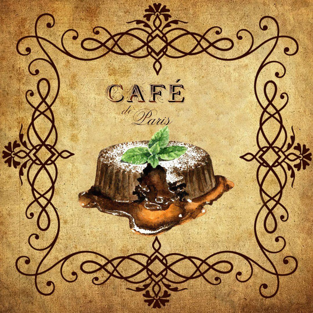 Винтажные картинки для кафе