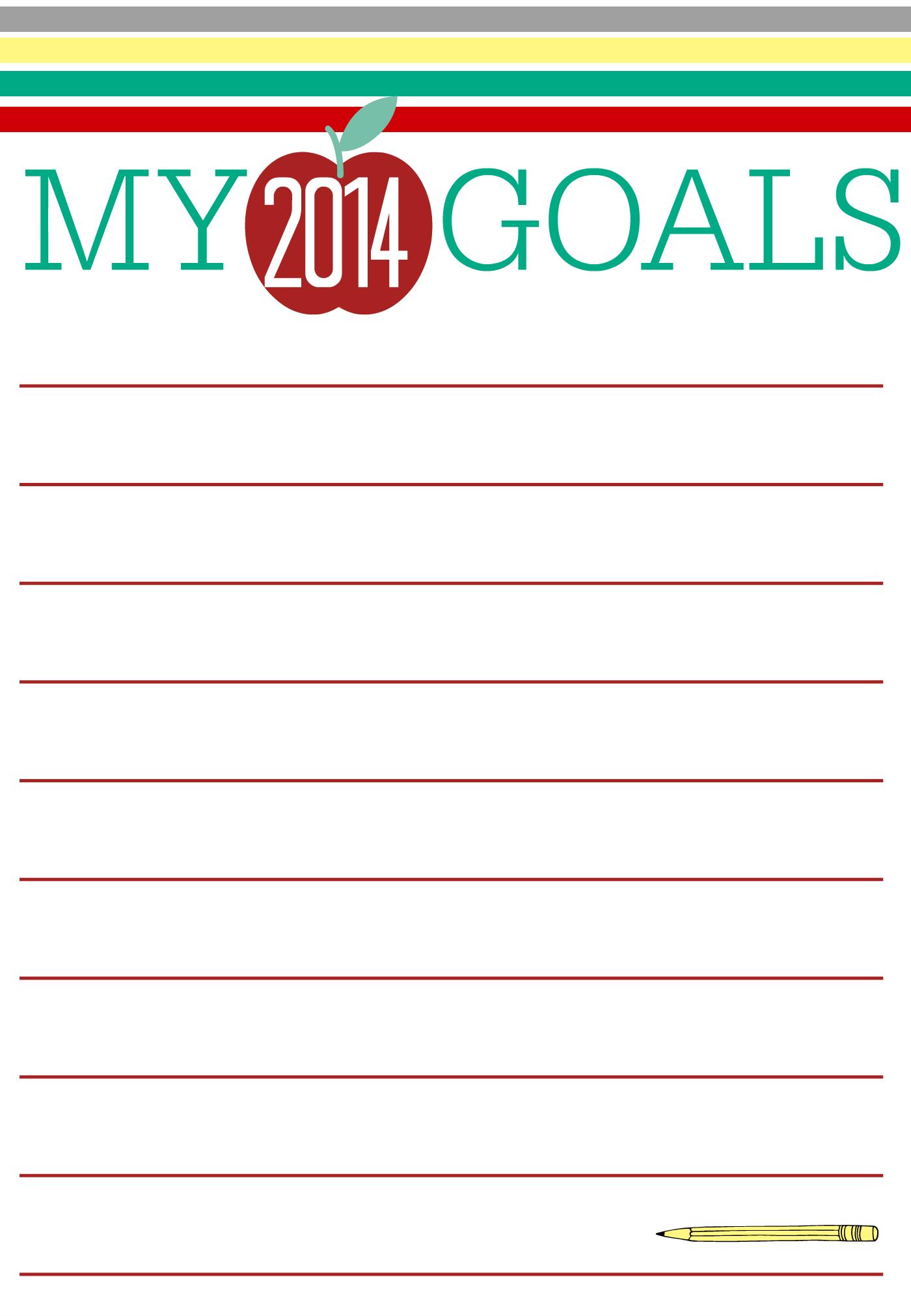 Back To School Goal Setting Printable