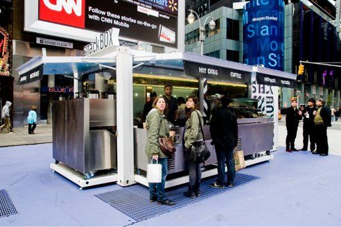 Snackbox Transformer Container Restaurant Pops Up In Times Square : TreeHugger