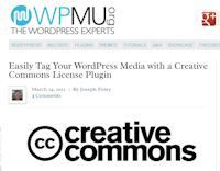 Easily Tag Your WordPress Media with a Creative Commons License Plugin