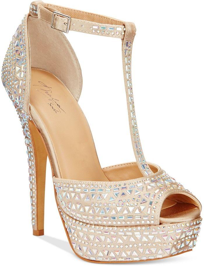 60401c99f95d Thalia Sodi Flor Embellished Platform Dress Sandals in Champagne ...