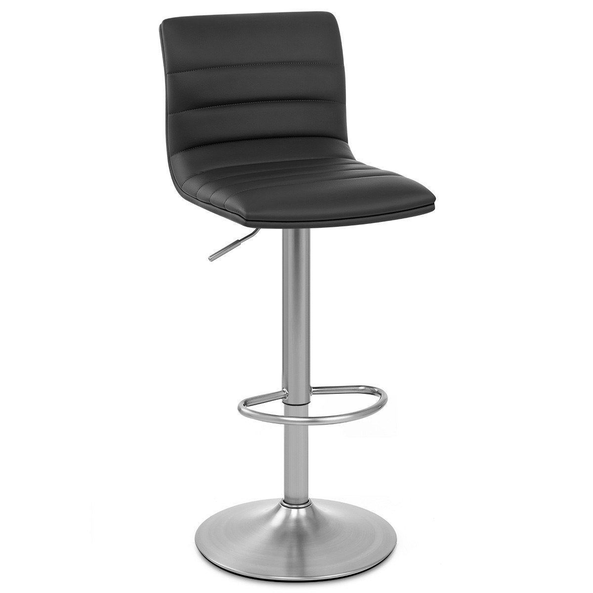 Tabouret De Bar Chic Simili Cuir Noir Linear Bar Chic Tabouret Et Simili Cuir