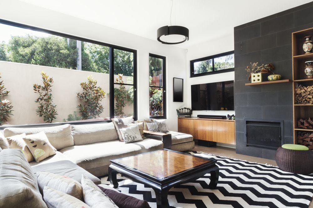 Wohnzimmer Ideen Wohnzimmerwand Sofa Teppich Ecksofa Wandgestaltung