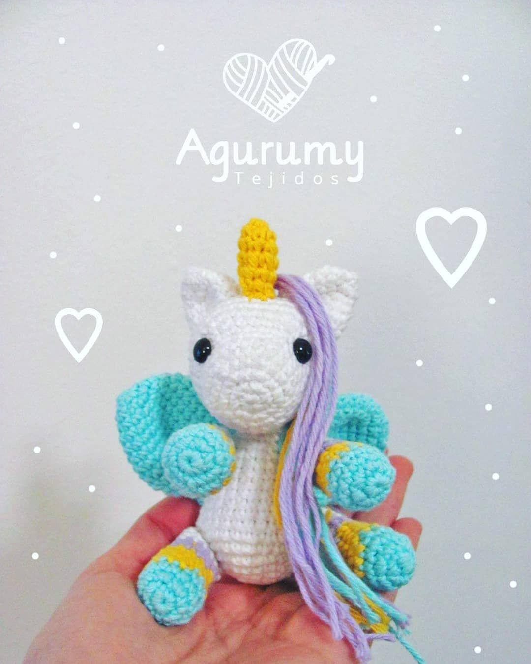 ✨Unicornio con alas ✨ mini . . . #agurumytejidos #crochet ...