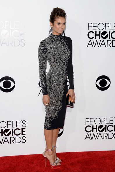 Actress Nina Dobrev attends The 40th Annual People's Choice Awards at Nokia Theatre L.A. Live on January 8, 2014 in Los Angeles, California....