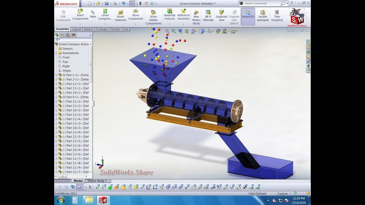 Screw conveyor animation tutorial solidworks share solidworks screw conveyor animation tutorial solidworks share solidworks tutorial baditri Image collections