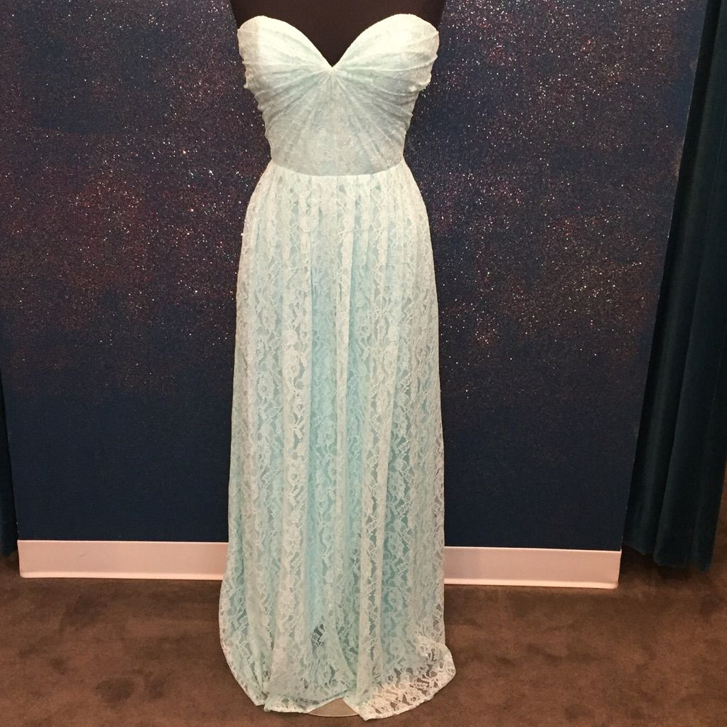 Mint lace dress with twist top lace dress and products