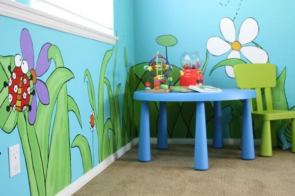 Wall Murals For Kids best home eclectic kids room with flower and nature theme kids