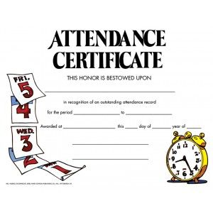Attendance Certificate  Pack Downloadable Templates Available