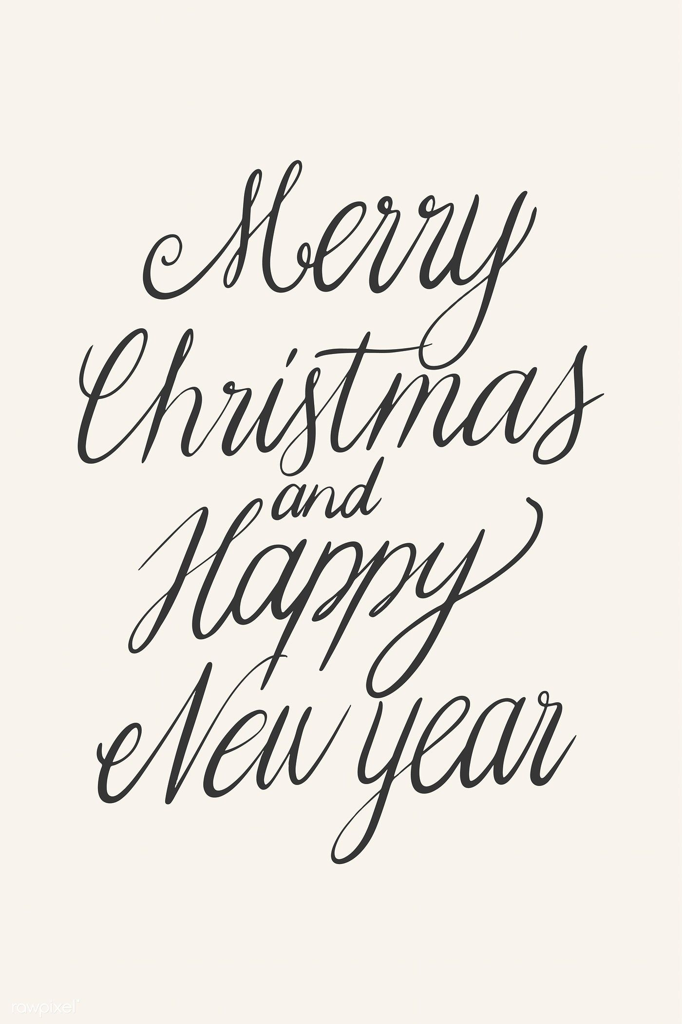 Download Premium Vector Of Merry Christmas And Happy New Year Card Design New Year Card Design New Year Card Happy New Year Cards
