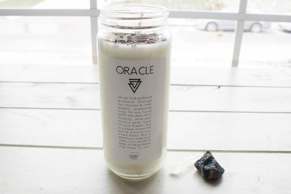 Oracle Intention Candle-Ritual Candle-Meditation Candle ...