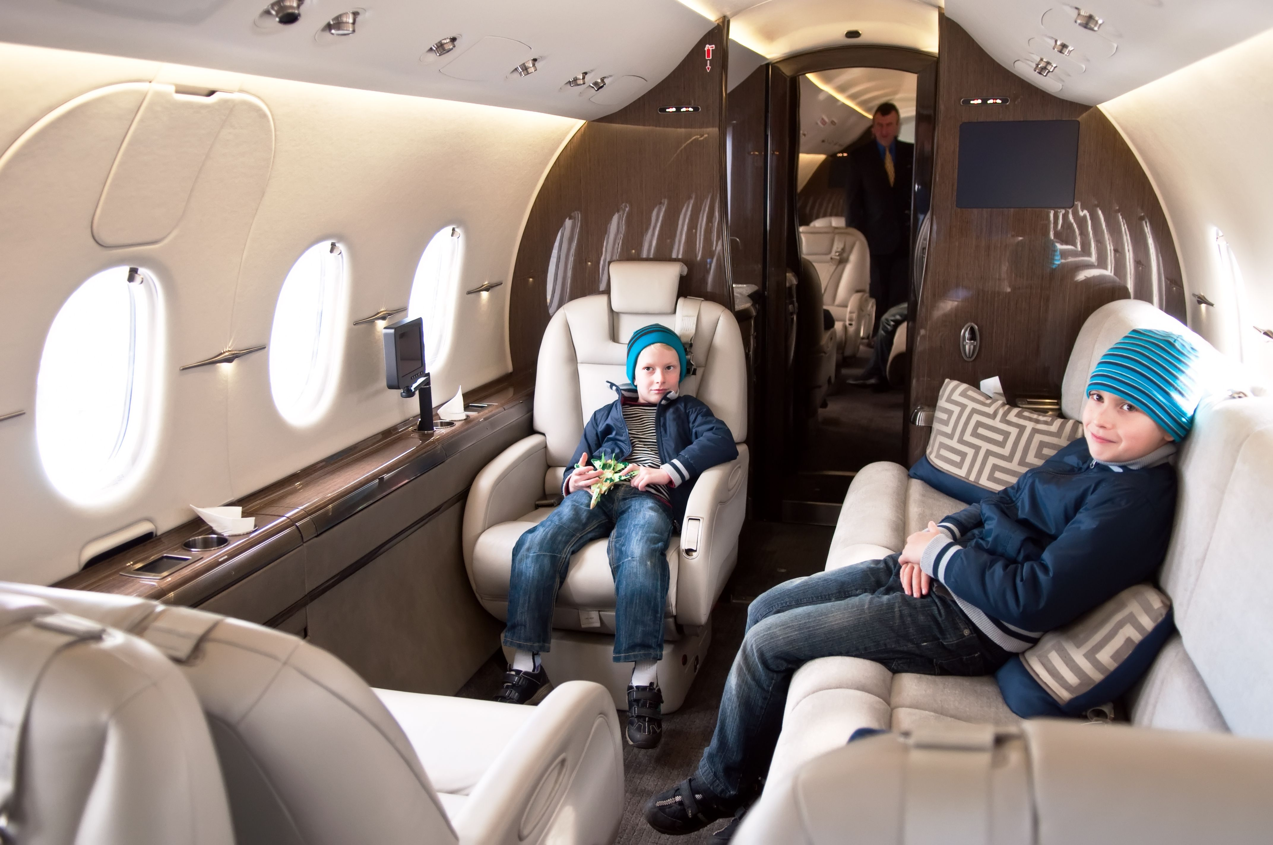 Interior Of A Private Jet Stratos Jets Has A Number Of Private Jets Available For Charter To