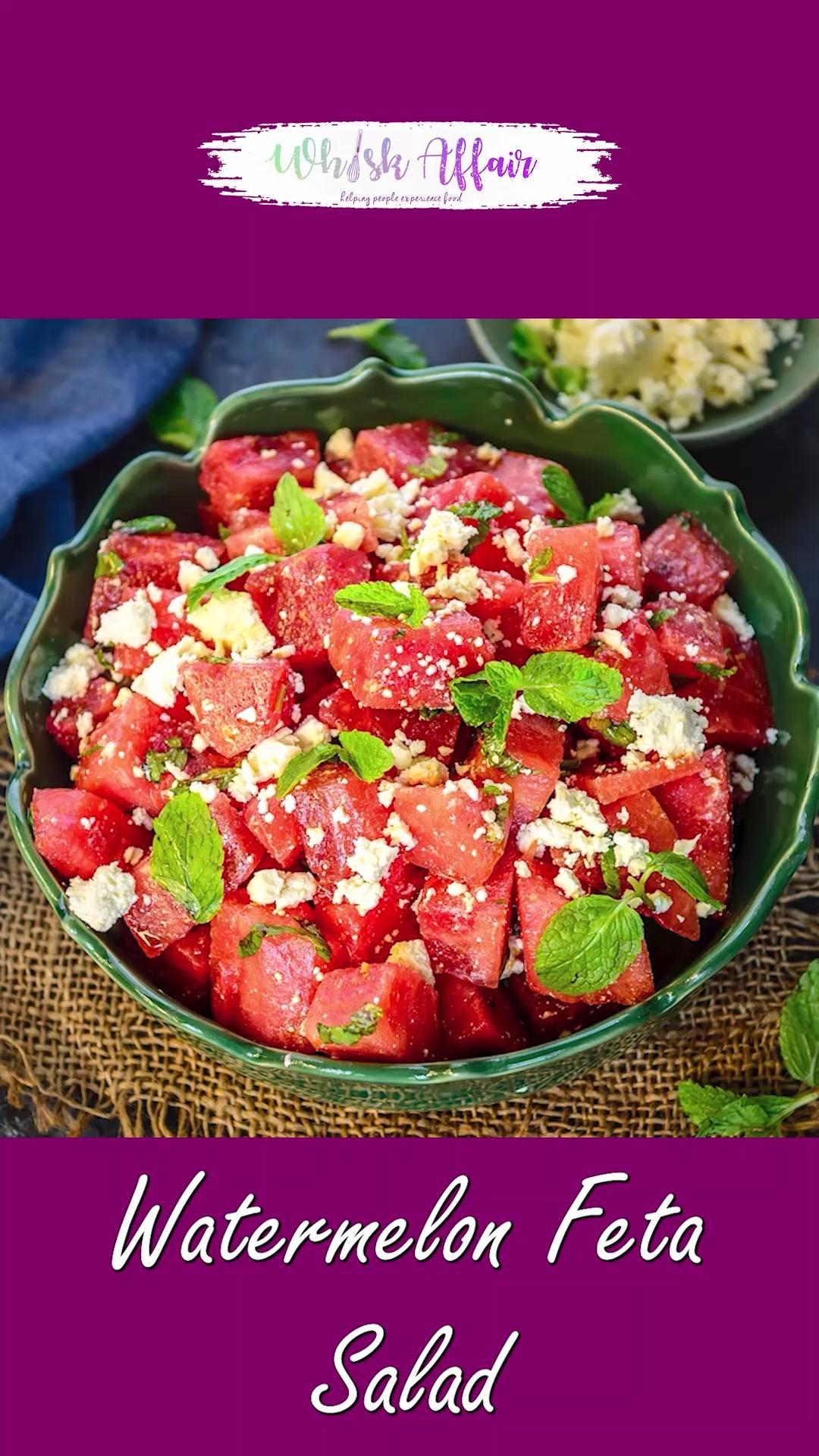 Watermelon Feta Salad Video Recipe