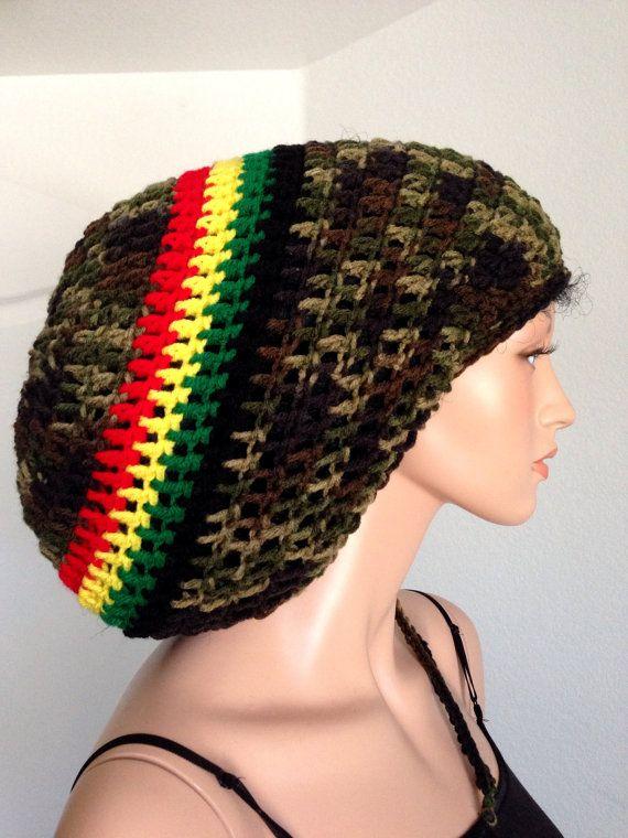 Crochet Jamaican Rasta Dreadlocks Tam. Handmade Mega Dreadlocks Tam ...