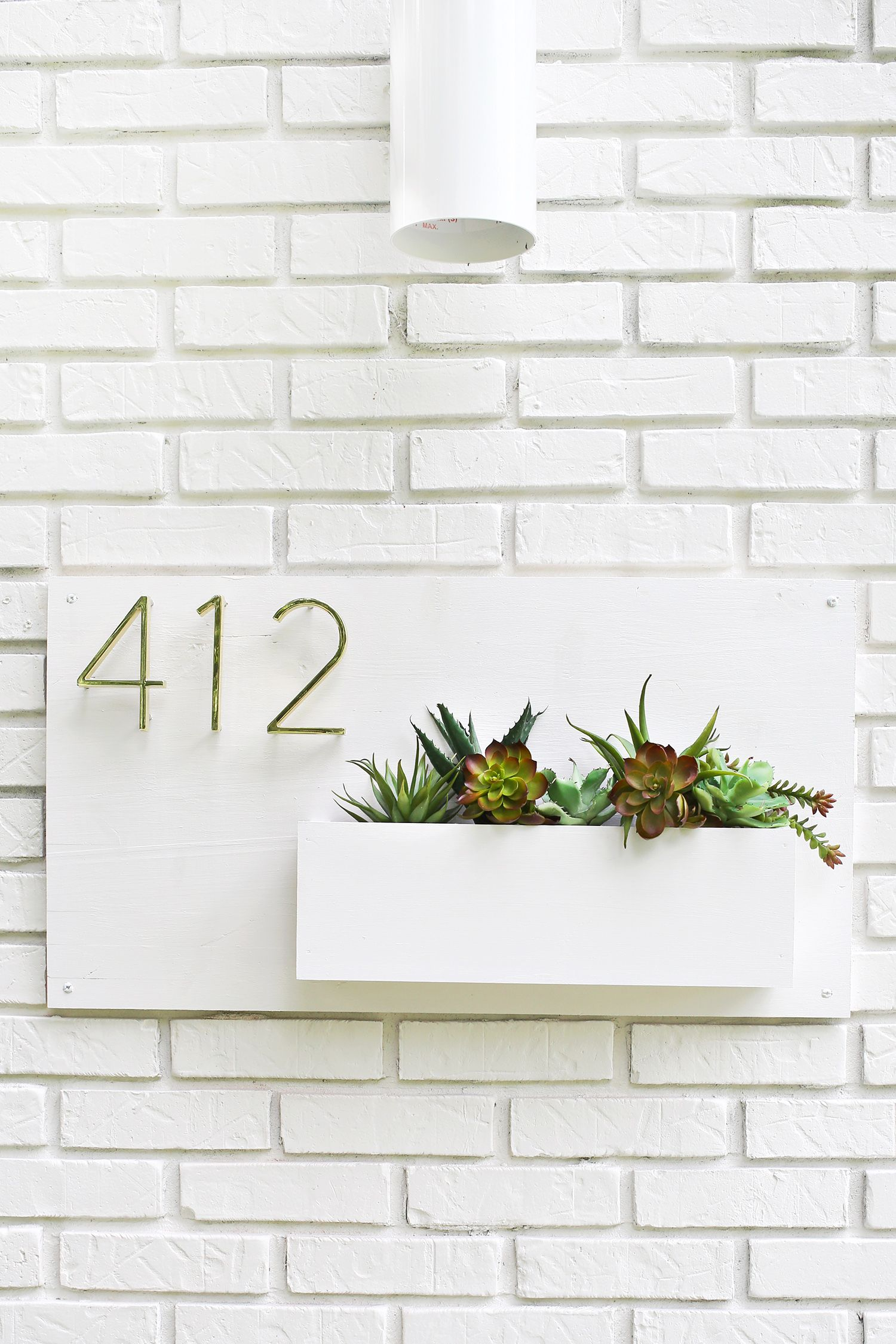 Diy Modern House Number Planter Part 77