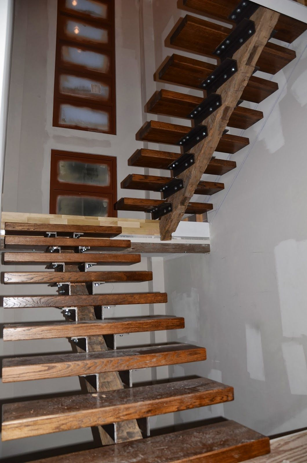 Building Our Modern Home in Atlanta Custom Stairs ...