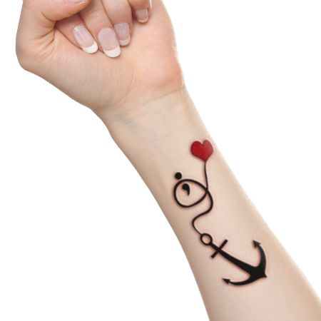 Incredibly cute and inspiring semicolon tattoo designs for Faith hope love tattoo meaning