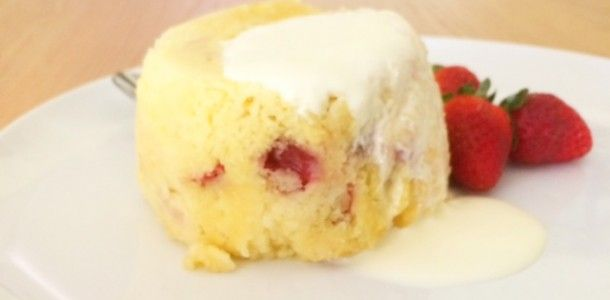 Microwave 3 Minute Strawberry Mug Cake