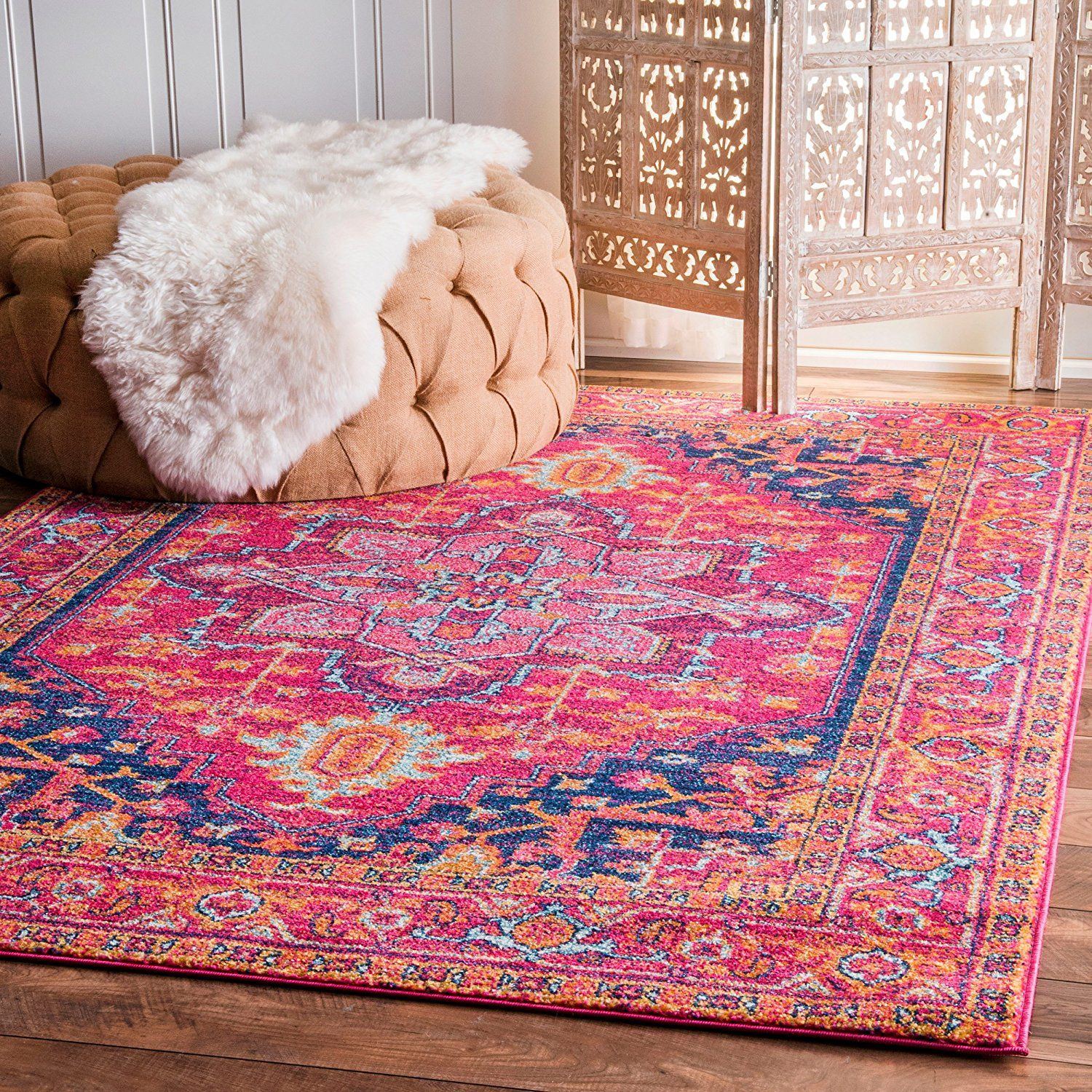 pink moroccan woodwaves products kaleidoscope area style rug