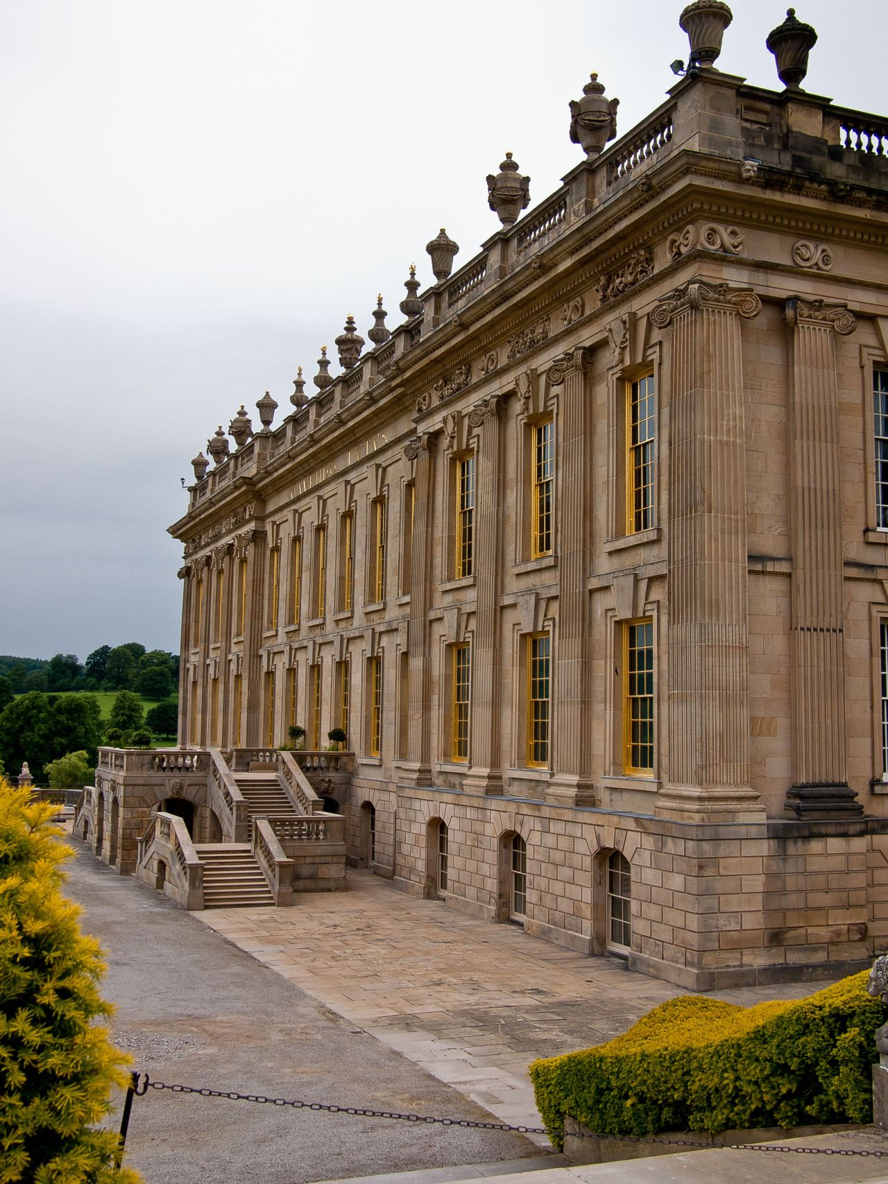 Chatsworth House History: Chatsworth House In Derbyshire,England, Seat Of The Dukes