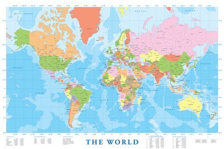 Modern map of the world walmart grade 2 pinterest modern modern map of the world walmart gumiabroncs Image collections