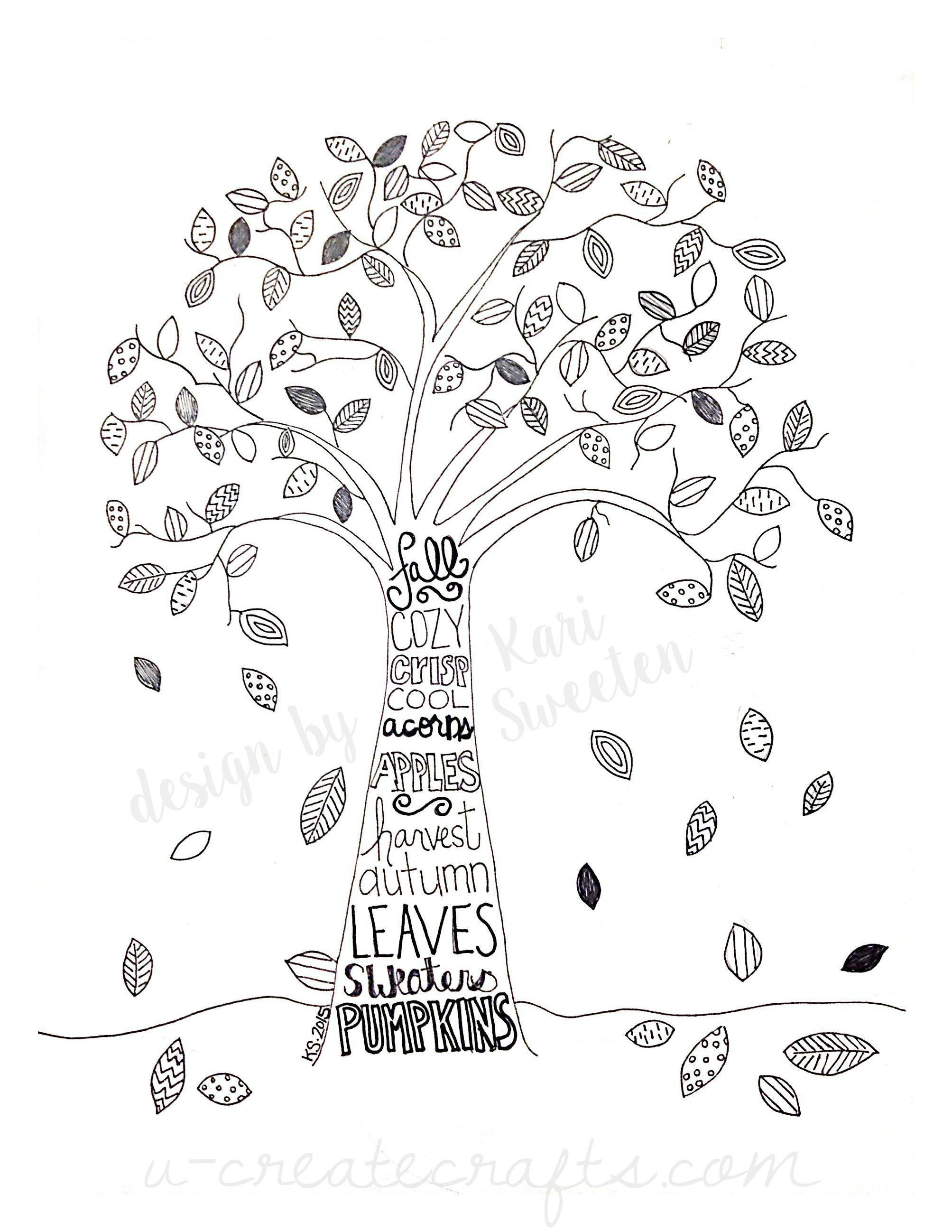 Maple Leaf Coloring Page Luxury Autumn Tree Coloring Sheet