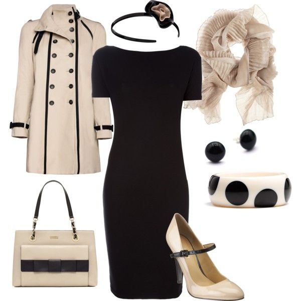 I love the simple dress and the great coat.