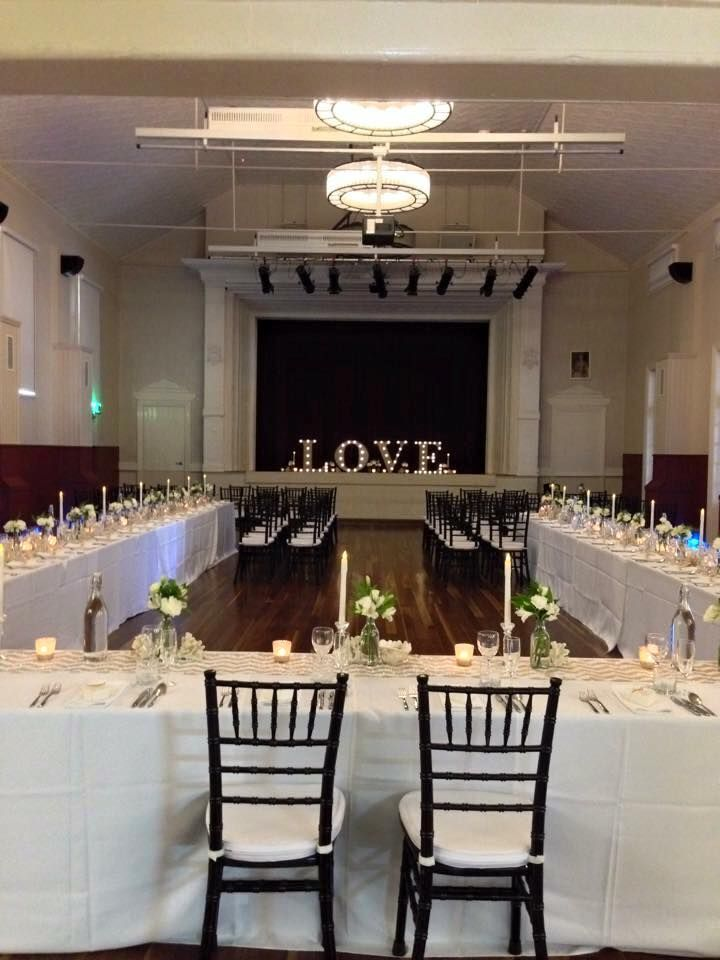 Sandgate Town Hall; set up by Adorn Event Hire www.facebook.com ...