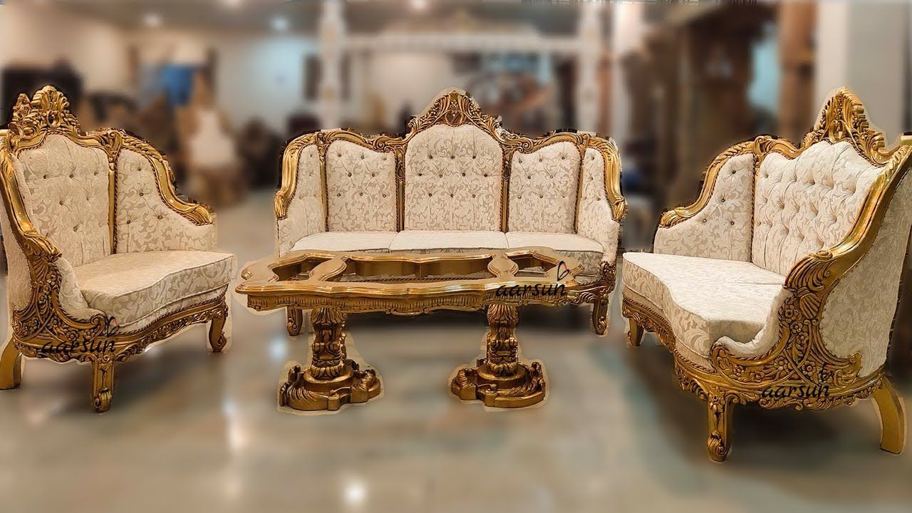 216 Italian Style Wooden Sofa Set Luxury Furniture Buy Online Aars In 2020 Living Room Sets Furniture Luxury Furniture Wooden Sofa Set