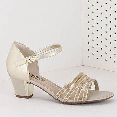 9f1da908e Sandália Salto Conforto Feminina Piccadilly - Ouro | Sapatos e ...