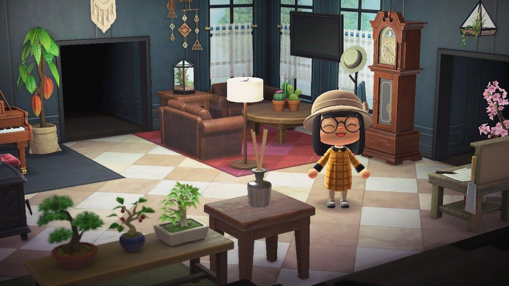 Cosy living room ACHN in 2020   Animal crossing, Animal ... on Animal Crossing Living Room Ideas  id=93007