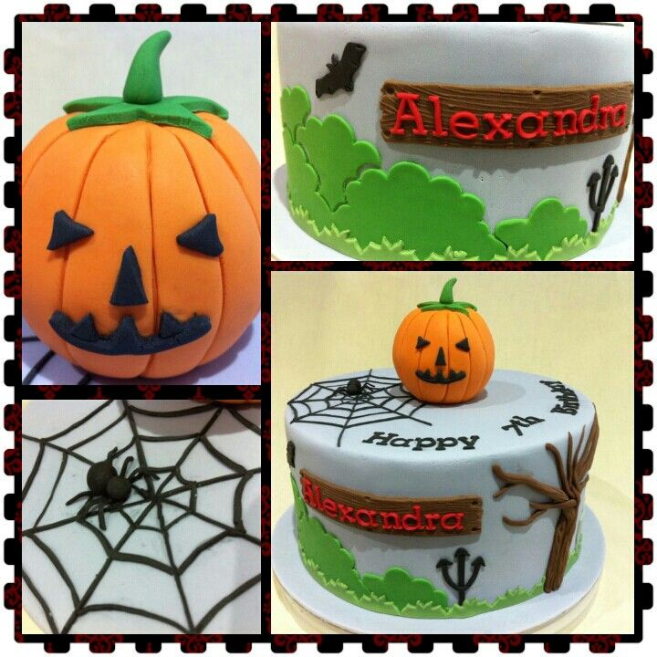 Halloween theme cake for birthday 15/9/13 My cake Pinterest - halloween decorated cakes