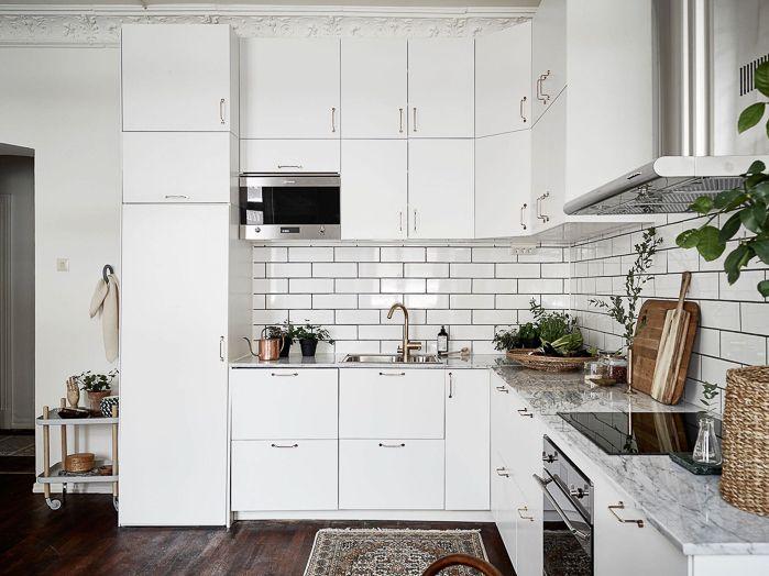 Deco Apartamento De Estilo Nordico En Color Blanco Total With Or Without Shoes Blog Moda Valencia Espa Estilo De Cocina Diseno De Cocina Muebles De Cocina