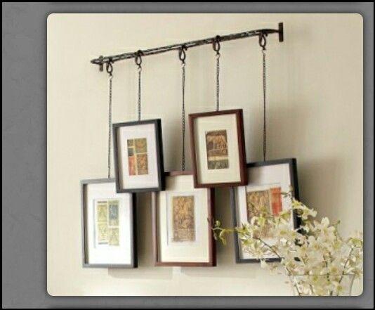 Creative way to hang pics or art | DIY for LESS & LOVE IT ...