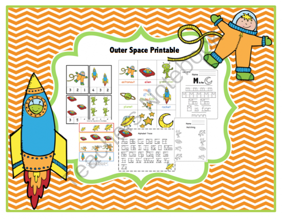 Outer Space Printable From Preschool Printables On