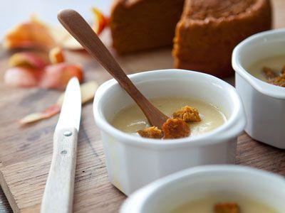 Soupe de pomme de terre au pain d'épices - Enfant.com