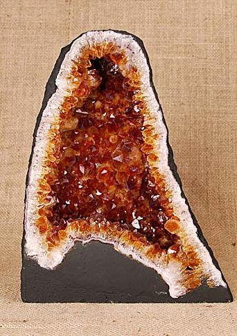 Fakes, Forgeries and Misrepresentations  :: A great guide for the serious collector or buyer (✪ Buyer Beware ✪) :: This one, a kiln baked Citrine.