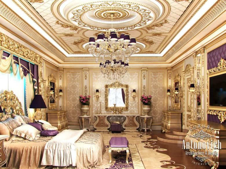 LUXURY ANTONOVICH DESIGN Master Bedroom In Classic Style