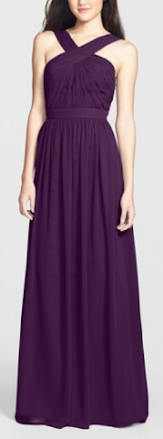 beautiful crisscross chiffon gown http://rstyle.me/n/k2athr9te