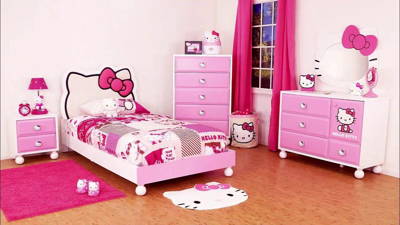 غرف نوم بنات هيلو كيتي رااائعة الوان اوض نوم بنات هالو كيتي Hello Kitt Hello Kitty Rooms Hello Kitty Bed Hello Kitty Room Decor
