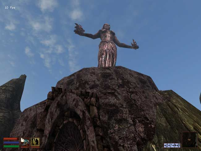 The Shrine of Azura in Morrowind, where the Daedric quest to