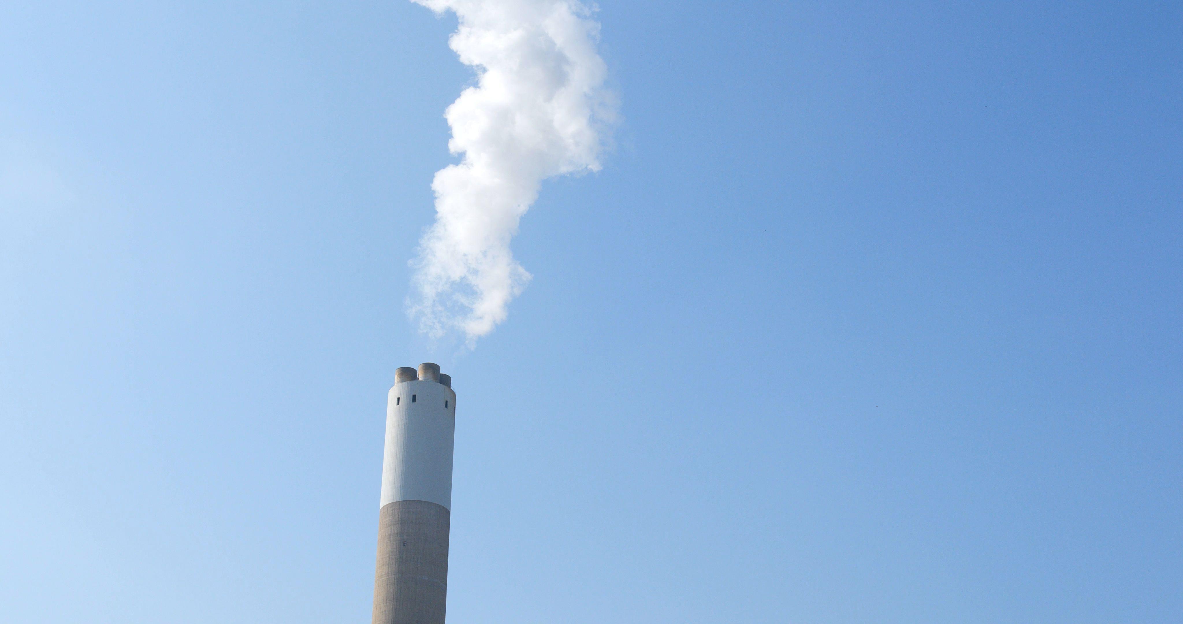 Chimney Smoke And Blue Sky Stock Footage Blue Smoke Chimney