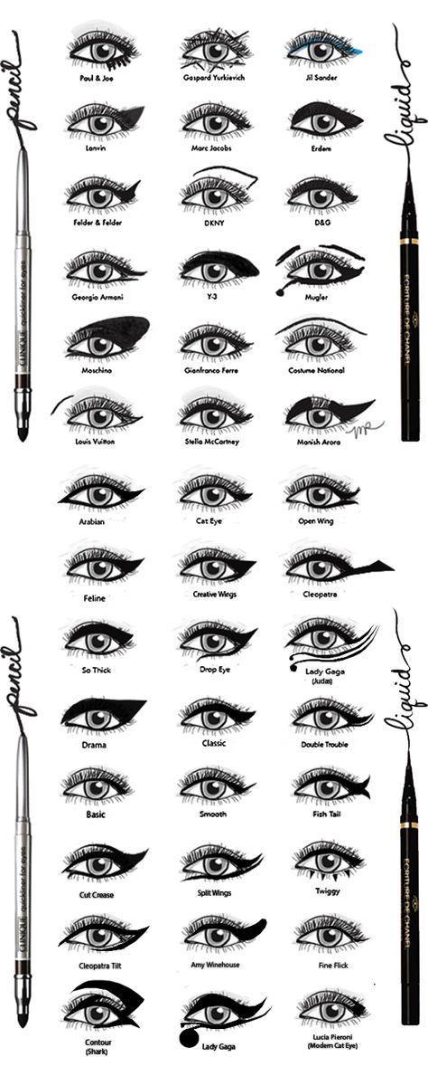 Eyeliner Styles por DamnBlackHeart.deviantart.com en @deviantART – Pinmakeup