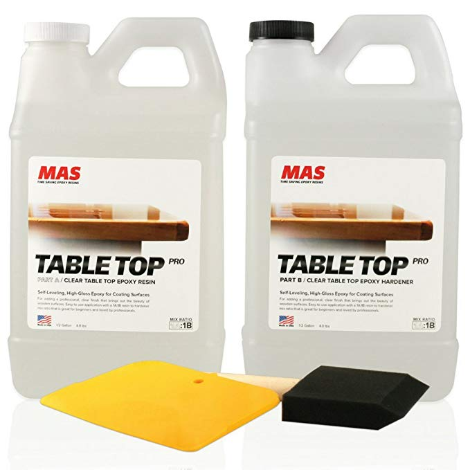 Crystal Clear Epoxy Resin One Gallon Kit MAS Table Top