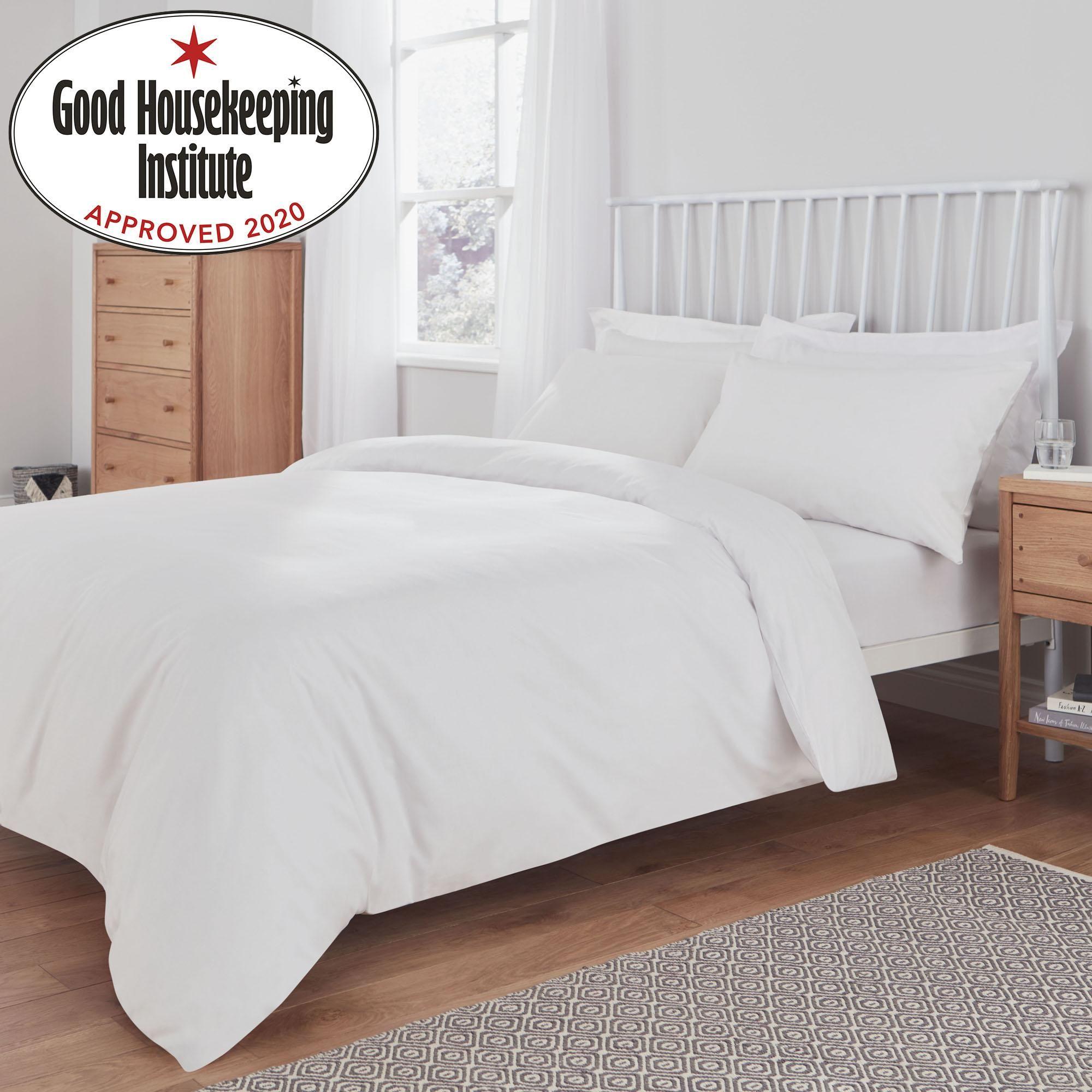 Non Iron Plain Dye White Duvet Cover In 2020 Ivory Duvet Cover