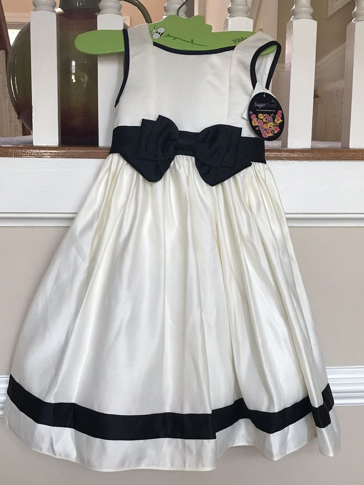 23d3baeed5c Girls Sugar plum Size 5 formal white and black dress  fashion  clothing   shoes  accessories  kidsclothingshoesaccs  girlsclothingsizes4up (ebay  link)