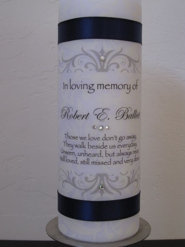 Diy Memorial Candle Excellent Idea To Honor Those Who Have Ped