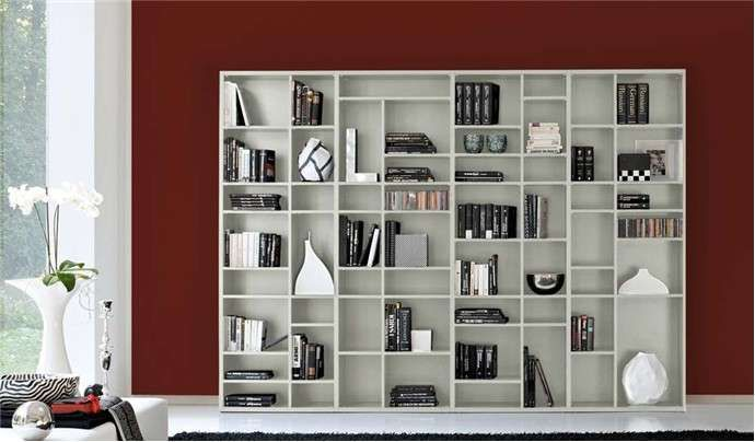 Librerie componibili modulari - Libreria nelle nuances del bianco ...