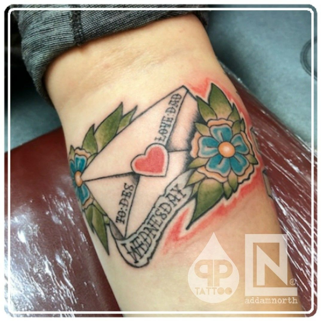 Letter Tattoo by Addam North Envelope tattoo, Tattoo