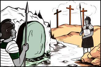 Soldiers At Jesus Tomb | Jesus Tomb Clip Art